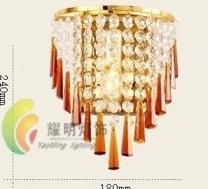 設計師美術精品館現代水晶壁燈 床頭臥室沙發壁燈燈具公主的面沙壁燈