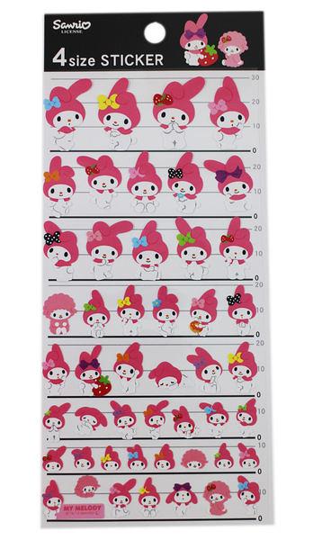 【卡漫城】 Melody 貼紙 ㊣版 各種尺寸 動作 表情 日版 美樂蒂 三麗鷗 日本製造