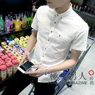 夏季男士青年學生韓版修身襯衫OU64『極致男人』