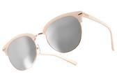 PAUL HUEMAN 太陽眼鏡 PHS10801A C12 (珍珠白金) 復古風潮個性眉框水銀鏡面款 # 金橘眼鏡