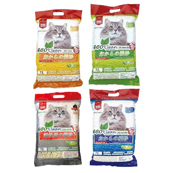 寵物家族-ECO艾可豆腐貓砂 (原味/綠茶/玉米/活性碳) 7L