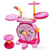 架子鼓玩具兒童初學者打鼓樂器1-3-6歲寶寶音樂電子琴男女孩花間公主igo