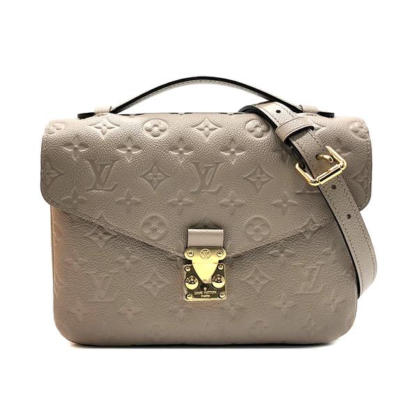 【台中米蘭站】全新品 Louis Vuitton Pochette Metis 全皮壓紋斜背郵差包(M44881-米)