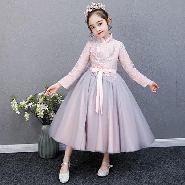 花童婚禮小女孩禮服兒童婚紗禮服女童鋼琴演出服蓬蓬紗公主裙洋氣【快速出貨】