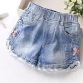 夏季韓版時尚中大童薄款夏裝女童牛仔短褲潮