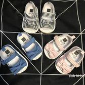 女寶寶布鞋涼鞋膠軟底嬰兒鞋子0-1-2歲學步鞋0-6-12個月公主鞋夏(1件免運)