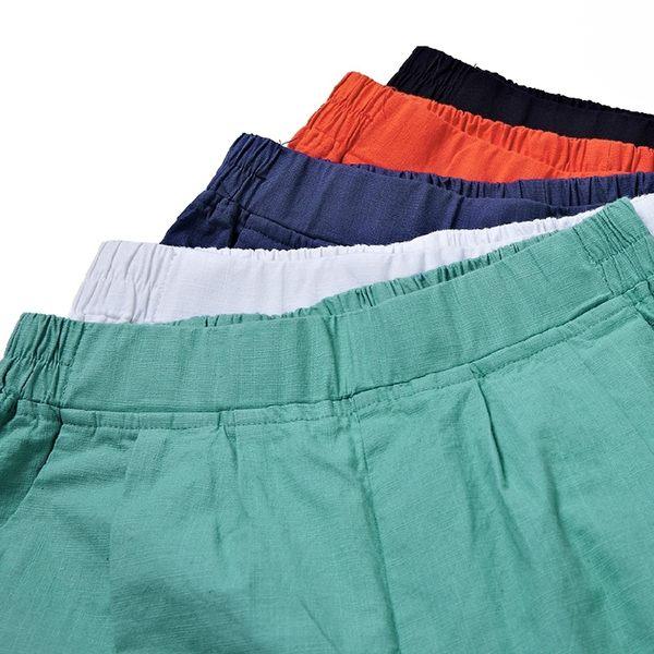 長褲夏季百搭棉麻女褲長褲女寬鬆大碼鬆緊高薄款亞麻哈倫休閒褲子女