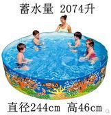 Bestway硬膠水池嬰兒游泳池家庭戲水池養魚池免充氣igo『韓女王』