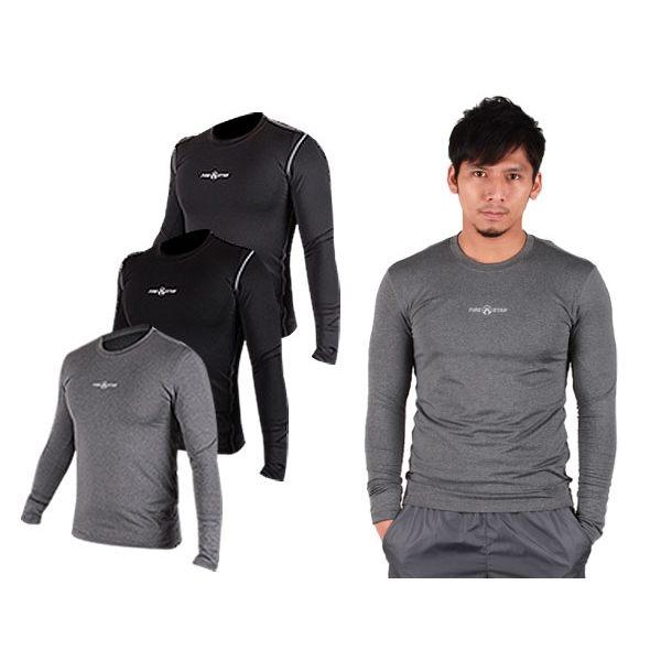 FIRESTAR 男緊身長袖T恤(慢跑 路跑 運動T恤 N3808