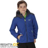 【REGATTA 英國 兒童 佛坎尼超反光防水透氣外套《藍/灰》】RKW196/彈性/內刷毛/夾克