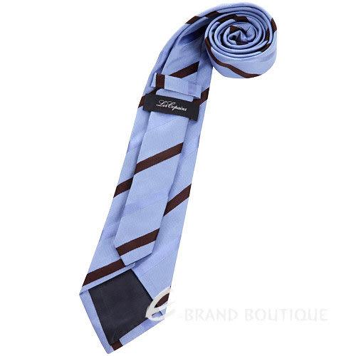 Les Copains 水藍/咖啡色斜紋領帶 1240431-27