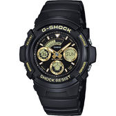 CASIO 卡西歐 G-SHOCK 賽車運動手錶-金x黑 AW-591GBX-1A9DR