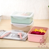 飯盒便當盒套裝冰箱水果保鮮盒長方形收納盒【櫻田川島】