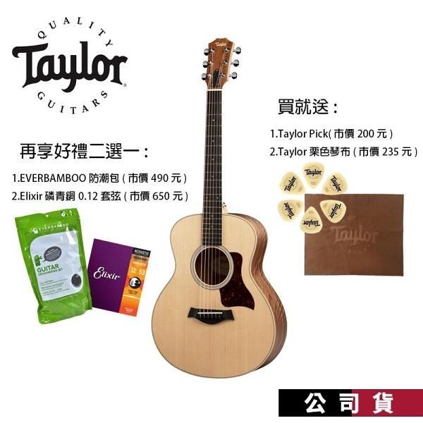 【南紡購物中心】Taylor GS-Mini EWAL EQ Walnut 胡桃木 民謠吉他 旅行吉他 GSMini 木吉他
