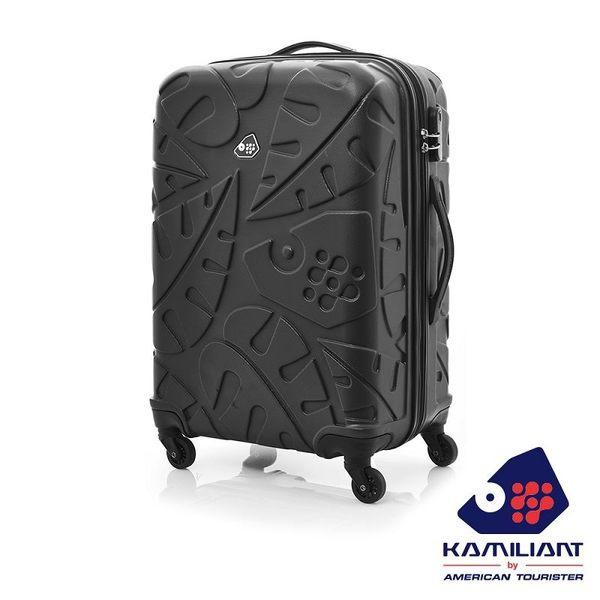Kamiliant卡米龍 28吋 Pinnado立體羽毛圖騰防刮 TSA 四輪硬殼行李箱(黑)