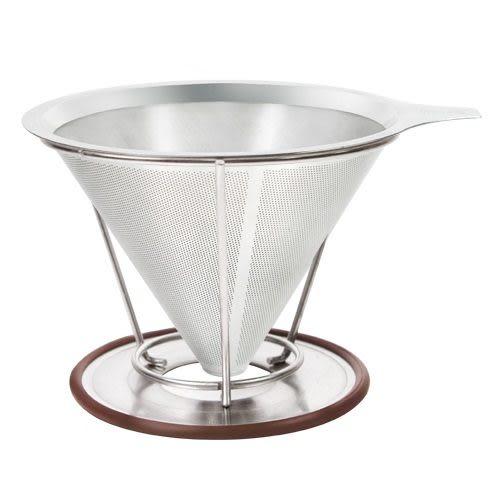 Driver不鏽鋼濾杯禮盒組咖啡濾網+專用承架+微波玻璃壺免用咖啡濾紙-大廚師百貨