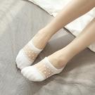 蕾絲襪子 夏季薄款蕾絲船襪女襪子韓國低幫淺口硅膠防滑短襪純棉防臭隱形襪-Ballet朵朵