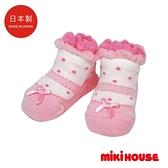 MIKI HOUSE BABY 日本製 蝴蝶結造型嬰兒襪