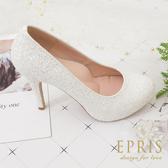 現貨 甜美系夢幻婚鞋推薦 繽紛女神 飾扣組合多變婚鞋 好走不磨腳 21-26 EPRIS艾佩絲-甜心白