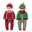 聖誕節造型連身衣 男寶寶女寶寶爬服 贈寶寶帽子聖誕老公公 聖誕小精靈 紅配綠爬衣 88614