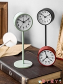 鬧鐘鬧鐘簡約北歐風格學生用靜音床頭鐘表創意個性臺鐘桌面擺件小座鐘 愛丫 新品