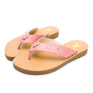 PLAYBOY 柔軟真皮V型寬帶修身涼拖鞋-桃(Y7321)