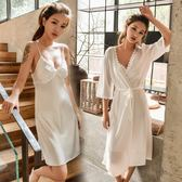 睡衣女夏季性感冰絲可外穿女士短袖吊帶夏天寬鬆春秋兩件套睡裙女 衣櫥の秘密