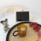 彩色高硼硅耐熱耐冷玻璃杯咖啡杯帶把水杯【小橘子】