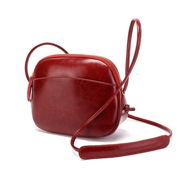 小包包女百搭真皮牛皮女包 簡約迷你天單肩斜背包側背包