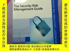 二手書博民逛書店The罕見Security Risk Managementn G