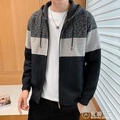 秋冬季男士韓版毛衣潮流個性加厚線衣寬鬆慵懶外套針織外穿開衫  聖誕節免運