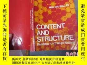 二手書博民逛書店content罕見and structure readings