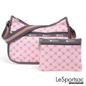 LeSportsac - Standard側背水餃包/流浪包-附化妝包 (經典格紋/粉) 7520P F084