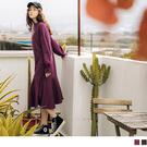 《DA7179-》甜美傘襬袖口英文刺繡長洋裝 OB嚴選