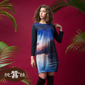 【岱妮蠶絲】森林藝術時尚造型蠶絲洋裝