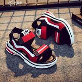 男童涼鞋中大童韓版女童夏季沙灘鞋兒童學生防滑寶寶童鞋        伊芙莎