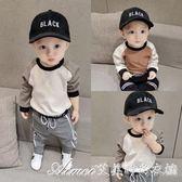 新生兒童衛衣韓版男寶寶長袖T恤圓領衫嬰兒衣服小孩打底衫上衣潮 艾美時尚衣櫥