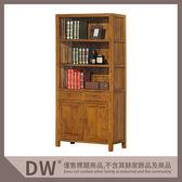 【多瓦娜】19058-611004 柚木雙門雙抽書櫃