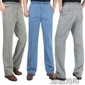 雙十二狂歡男士休閒褲亞麻棉麻加肥加大高腰鬆緊寬鬆肥款夏季薄款【潮咖地帶】