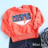 Mini Jule男童  上衣  英文字母線縫星星印花縮口長袖T恤(共2款) Azio Kids 美國派 童裝