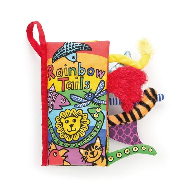 【愛吾兒】英國 JELLYCAT 感官刺激布書 Rainbow Tails 彩色世界尾巴書