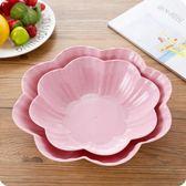 水果盘塑料創意歐式家用水果盤客廳茶幾塑料糖果盤果盤辦公室零食盤小果盤 俏女孩