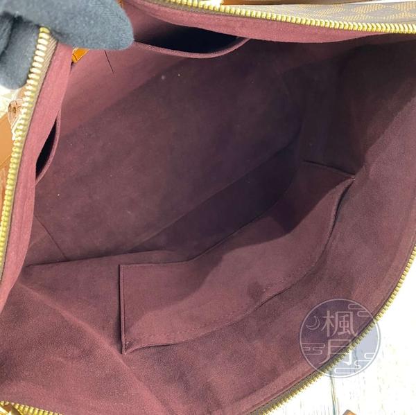 BRAND楓月 LOUIS VUITTON LV N63169 棕色 棋盤格 BELMONT 手提包 側背包