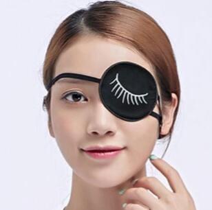 1代成人獨眼罩矯正弱視眼罩真絲男女