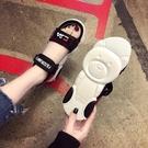 涼鞋 新款夏季新款正韓百搭學生厚底鬆糕羅馬涼鞋仙女風ins小熊涼鞋女