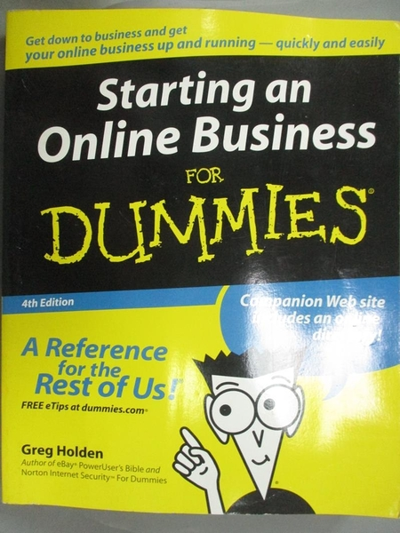 【書寶二手書T4/財經企管_ZII】Starting An Online Business For Dummies_Ho