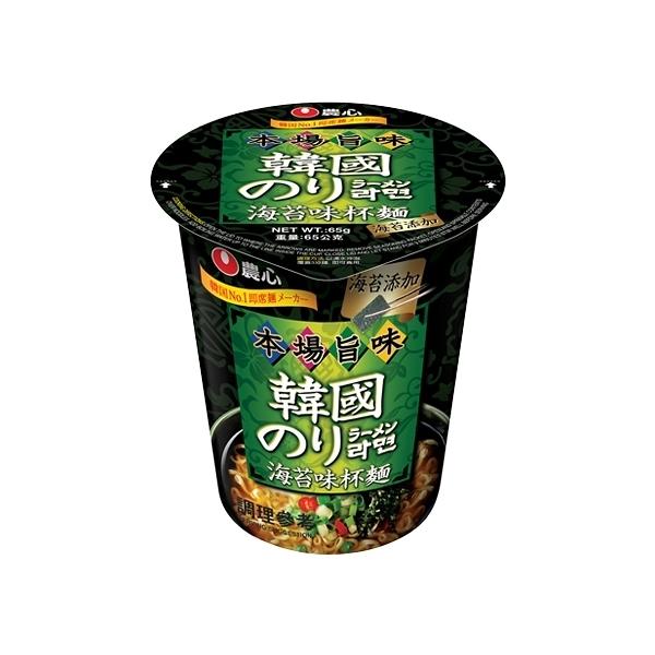 韓國 農心 海苔味杯麵(65g)【小三美日】進口/泡麵/團購