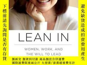 二手書博民逛書店Lean罕見In:Women, Work, and the Will to Lead向前一步:女性、工作及領導意誌