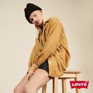 Levis 女款 工裝燈心絨襯衫外套 / Oversize寬鬆版型 / 拿鐵色