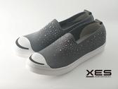 XES 滿天星 休閒鞋 樂福鞋 女款 灰色